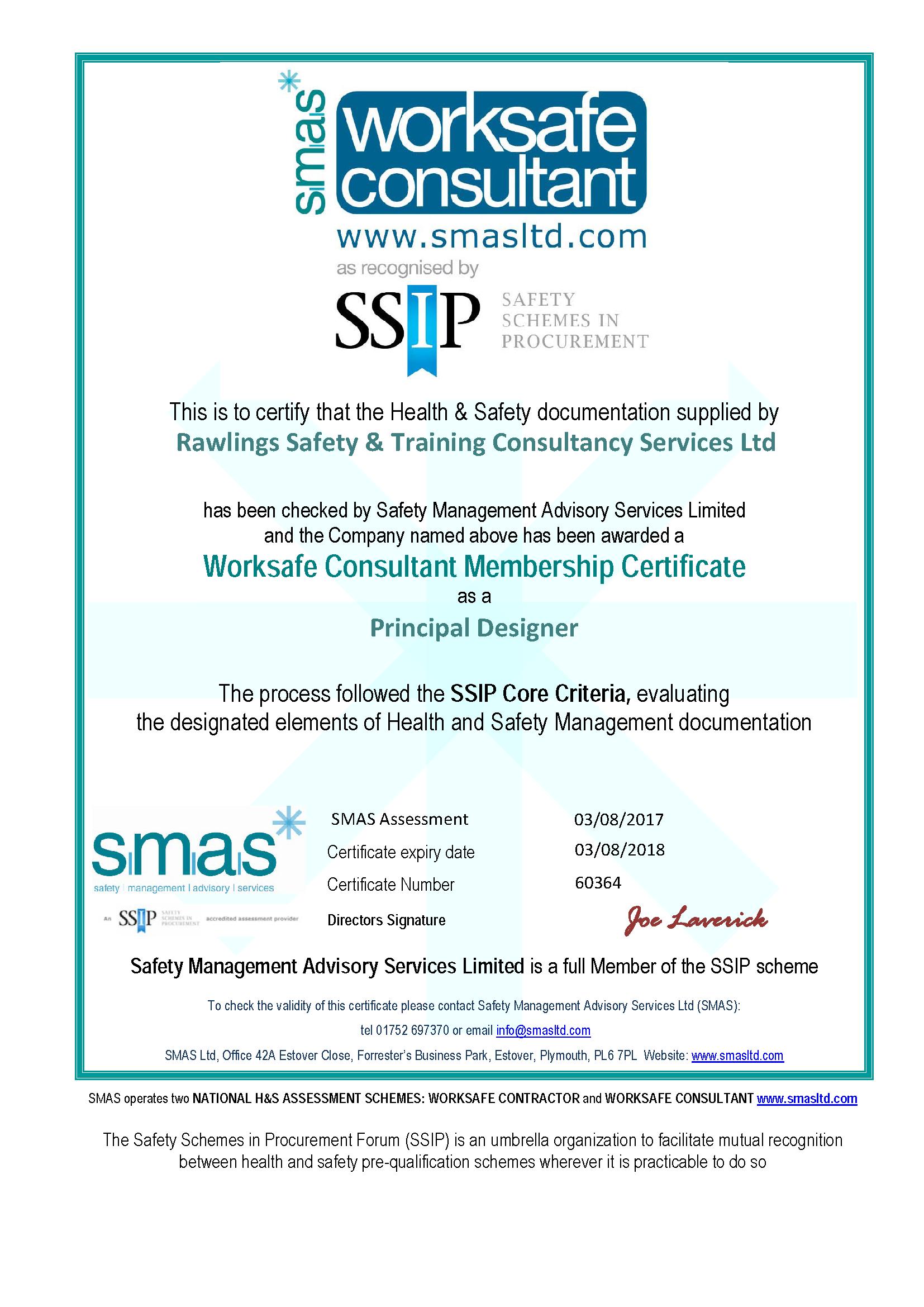 SMAS Certificate 2017 to 2018